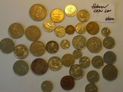 FOREIGN COIN WORLD MONEY CURRENCY 1,5,10,25,50,1.00 HUGH lot