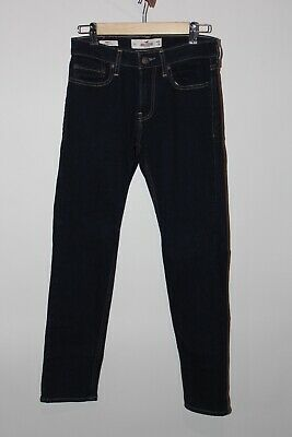 Hollister Men's / Boys Jeans Size 28 X 30 Skinny Fit Epic Stretch Dark Blue