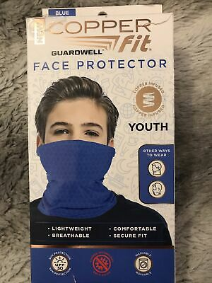 New Copper Fit Junior Youth Face Mask Cover Blue Color New In Box
