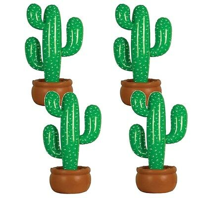 4x Grande 105cm Gonfiabile Cartoon Cactus Wild West Messicano Costume Festa QR08