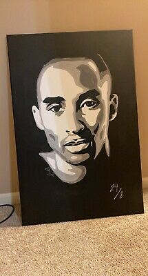 Kobe Bryant acrylic painting on canvas 24x36 (hand painted)