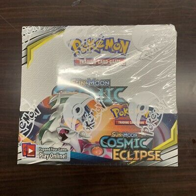 DY Pokemon TCG Sun & Moon Cosmic Eclipse Booster Box 36 Packs New Sealed