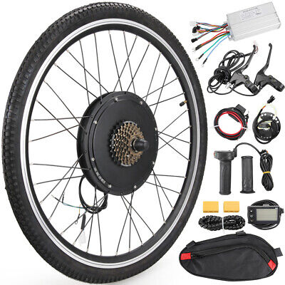 """26"""" Front/Rear Wheel 48V 1000W/1500W Electric Bicycle Ebike Motor Conversion Kit"""