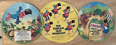 Vintage 1983 Lot of 4 Toucan Sam / Fruit Loops Cereal Flexi Records - Kelloggs