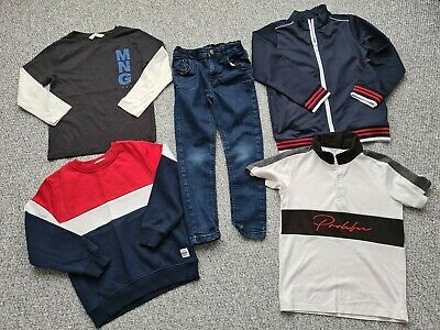 Boys Nutmeg Matalan H&M River Island Jeans Tops Bundle Age 5-6 Years