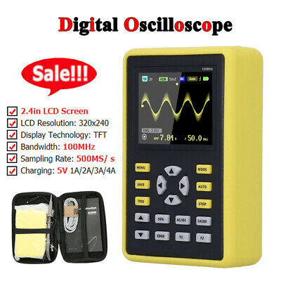 Digital Oscilloscope 5012H Oscilloscope 2.4‑Inch Stable Flipping Viewing