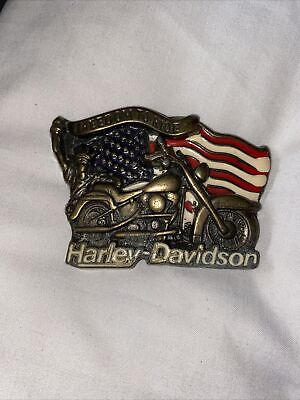 Vintage Harley Davidson Belt Buckle Freedom To Ride 1991 Baron