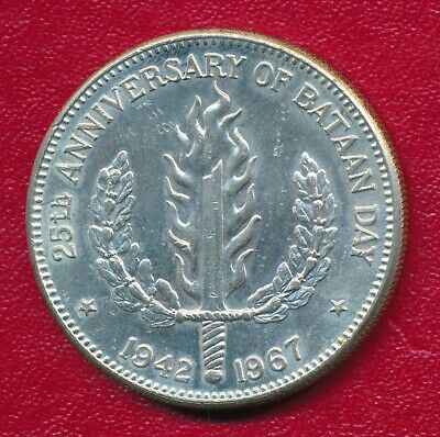 Philippines 1967 Silver One Peso Commemorative Coin **Nice Circulated**