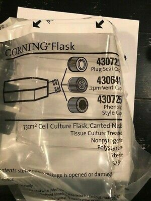 (50) Corning Flasks 75 cm squared Culture flask, 430725, Canted Neck