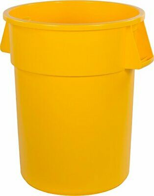 Carlisle 34105504 Bronco Round Waste Container Only 55 Gallon Yellow Pack of 2