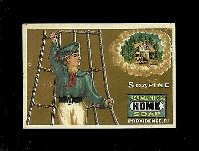 Sailor Thinks About Home-1880s Victorian Trade Card-Soap