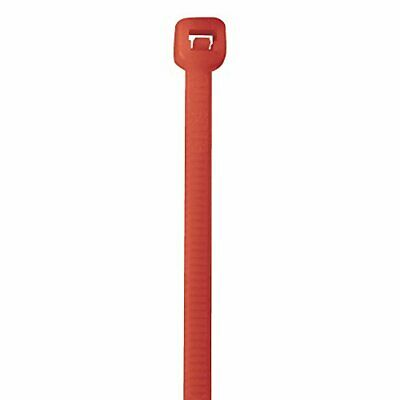 "Aviditi CT145K Nylon Cable Tie 14"" Length x 3/16"" Width Fluorescent Red Case ..."