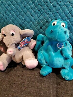 New Bubba and Popcorn Planet Hollywood Collectible Bean Bag Plush Toys.1997