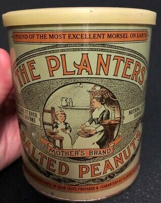 Vintage 1981 Planters Salted Peanuts 75th Anniversary Collector Tin
