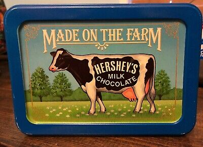 Vintage 1992 Hershey's Milk Chocolate Collector Tin Country Made On The Farm Cow