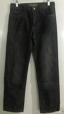 Denim & Co Kids Boys Straight Black Wash Jeans Trousers Bottoms 11-12 Years