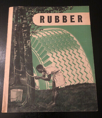 Vintage 1946 Firestone Tire & Rubber Co - Rubber History Book Booklet Education