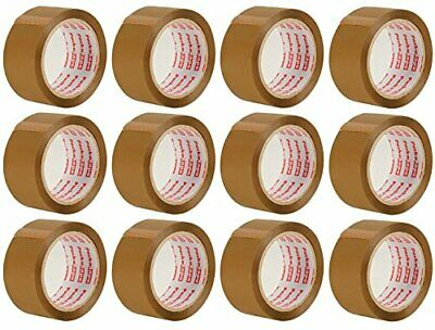 Packatape | 12 Rolls Brown Tape for Packing 48mm x 66m | Ideal as Brown Parcel