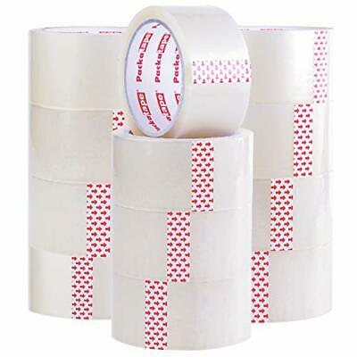 Packatape | 12 Rolls Clear Tape for Packing 48mm x 66m | Clear Packing Tape
