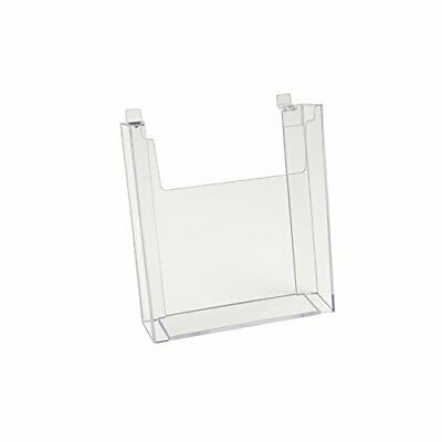 """Econoco Clear Hanging Literature Document Brochure Holder for Slatwall 8½"""" x ..."""