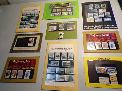 Lot of 9 Assorted Mixed Sealed Mint Unused Worldwide Topical Stamp Packets