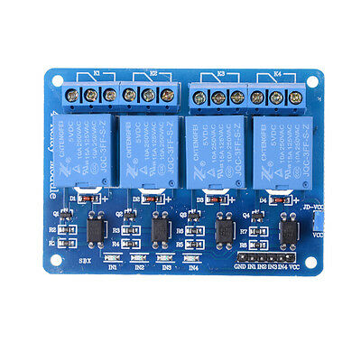 5V 4 Channel Relay Board Module With Optocoupler LED for Arduino PiC ARM AVKT GS