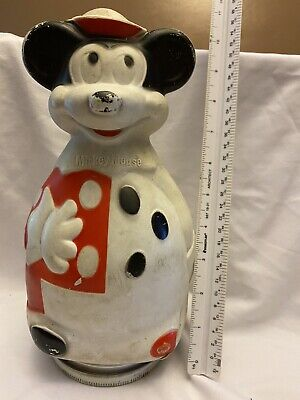 """Vintage MICKEY MOUSE Nabisco """"Puppets"""" Wheat Puffs Cereal Collectible Coin Bank"""