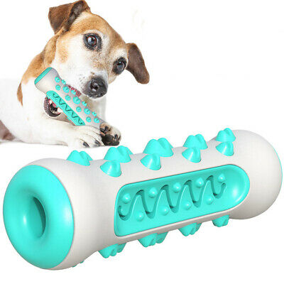 Pet Dog Chew Toys Aggressive Chewers Teeth Cleaning Oral Toothbrush Rubber Bone