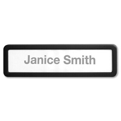 Lorell Recycled Plastic Cubicle Nameplate Black