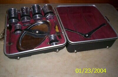 Vintage 1960s Mid Century Executair 707 Travel Bar w/ RARE TRAY And Accessories