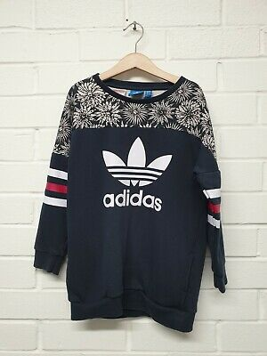 A14. Adidas Girls Navy sweatshirt Age 7-8