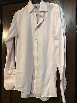 Men's M&S baby Pink Tailoring Ultimate Pure Cotton Non Iron Shirt 14 1/2 Collar