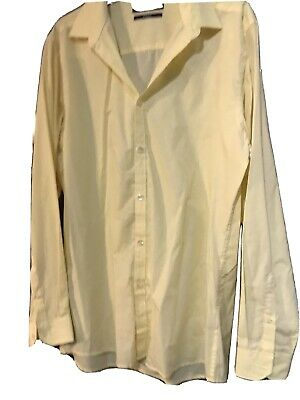 "Men's Slim fit Yellow Shirt Size 16"" Collar"