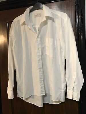 "River Island Men's Shirt Size 15 1/2"" Collar Cream"