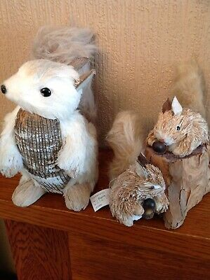 squirrels Hand Made Decorative Woodland Ornaments Free Uk Postage
