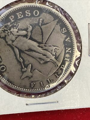 US PHILIPPINES ONE PESO 1907-S  BETTER DATE  Nice Coin