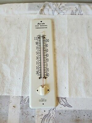 white metal thermometer acu-rite easy reading chaney lake geneva wisconsin