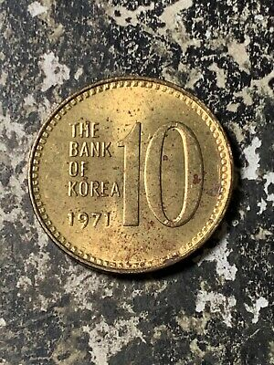 1971 Korea 10 Won Lot#Z8064 High Grade! Beautiful!