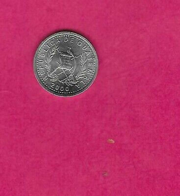 Guatemala Km276.6 2000 Uncirculated-Unc Mint-Bu Old Vintage 5 Centavos Coin