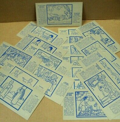 #2 Vtg SHREDDED WHEAT Advertising PICTURE STORIES Cards ~ MIXED SELECTION Lot/19