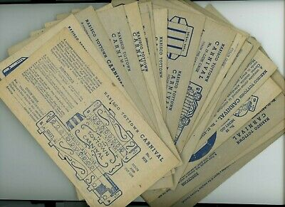 27 - Rare 1946 Nabisco TOYTOWN CARNIVAL Color & Cut Out game Cards - NICE! L@@K!