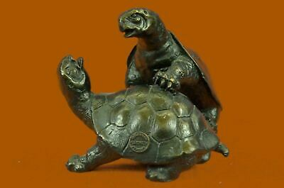 Sea Turtle Tortoise Solid Bronze Verde Green Bookends Nautical Beach House Deal