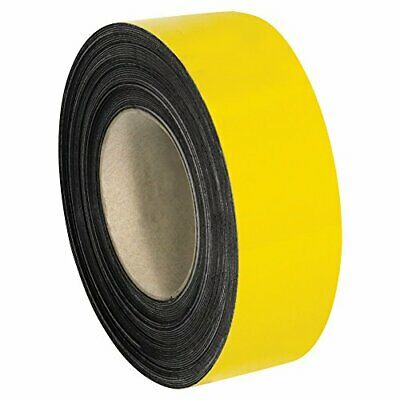 """Warehouse Labels Magnetic Rolls 2"""" x 100' Yellow 1/Case"""