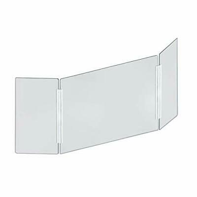 Azar Displays - 176194-100 Tri-Fold Protective Sneeze Guard for Counter and D...