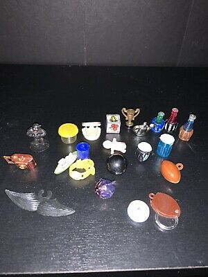 Vintage Lot 22 Gum Ball Machine Toys Prizes 70s Teeth Football Camera Plastic