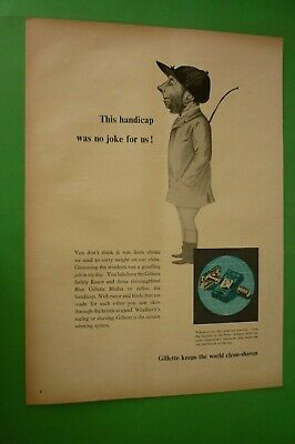 1955 Original Advertising' Blue Gillette Blades Foil Shavers Sir Hat