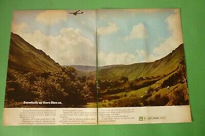 1973 Original Advertising' Aer Lingus Irish Airlines Ireland 2 Pages