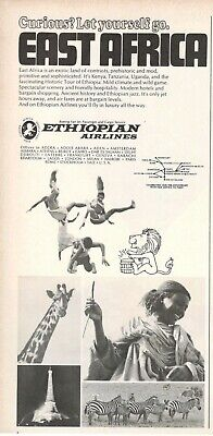 1963 Original Advertising' Vintage Ethiopian Airlines East Africa
