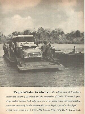 1959 Original Advertising' Pepsi Cola Company Is There Photograph From Mombasa