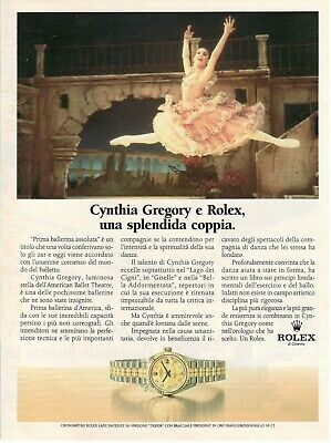 1990 Original Advertising' Rolex Watch Lady-Datejust 'Tridor' Cynthia Gregory